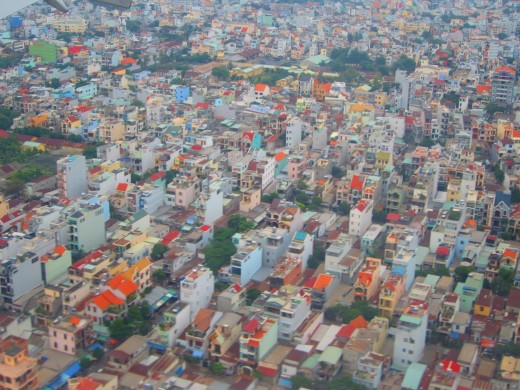 Suburban Saigon from the air
