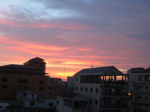 Living in phnom Penh sunset picture